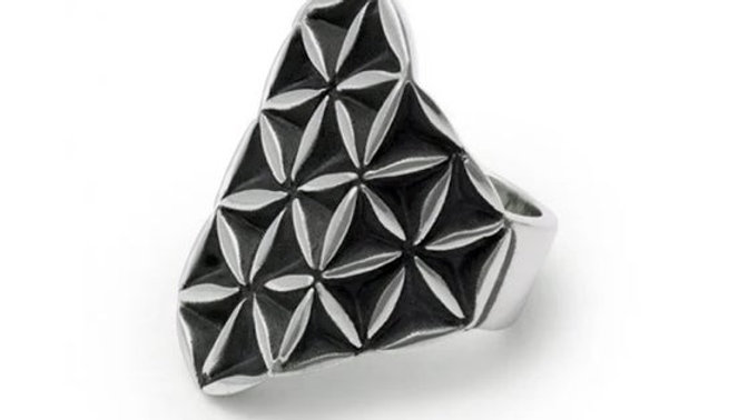Large Flower of Life Ring