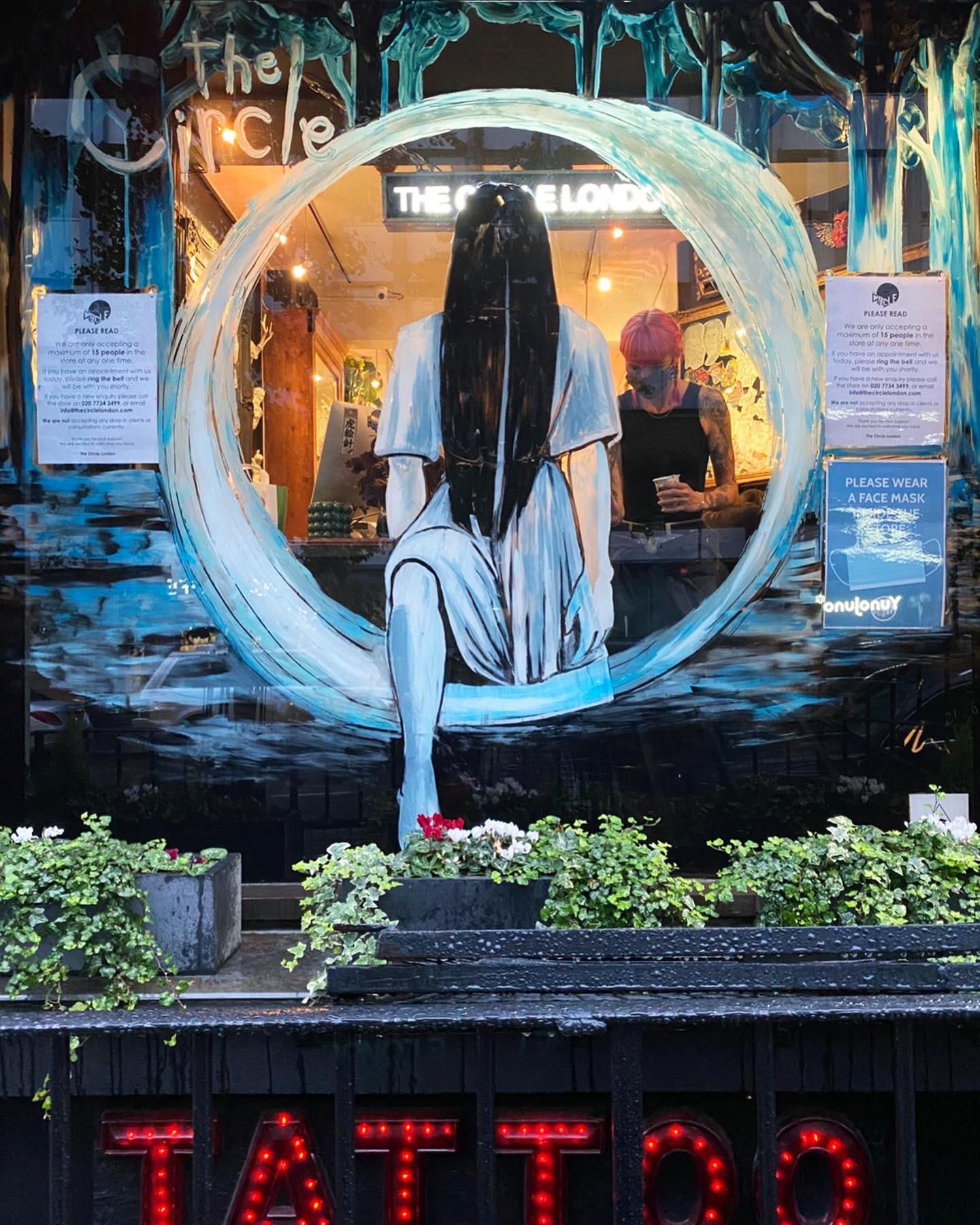 The Circle Halloween Window 2020