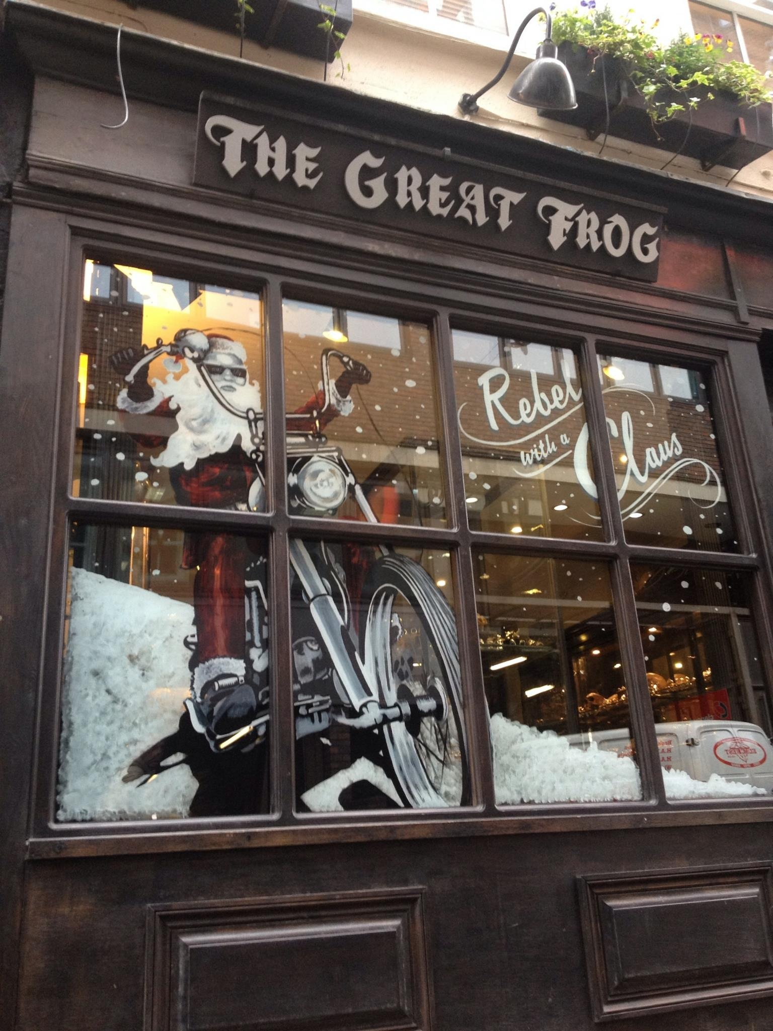 The Great Frog Christmas Window