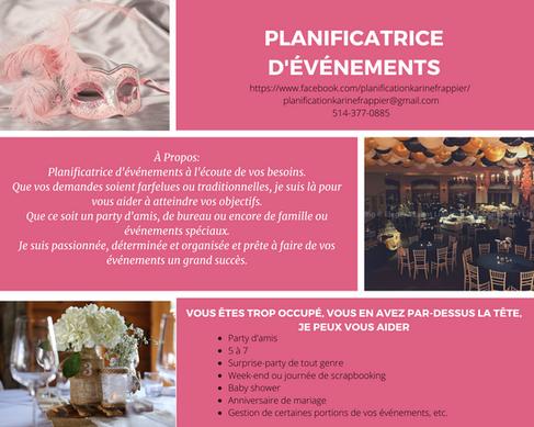 Planification & Gestion d'événements Karine Frappier
