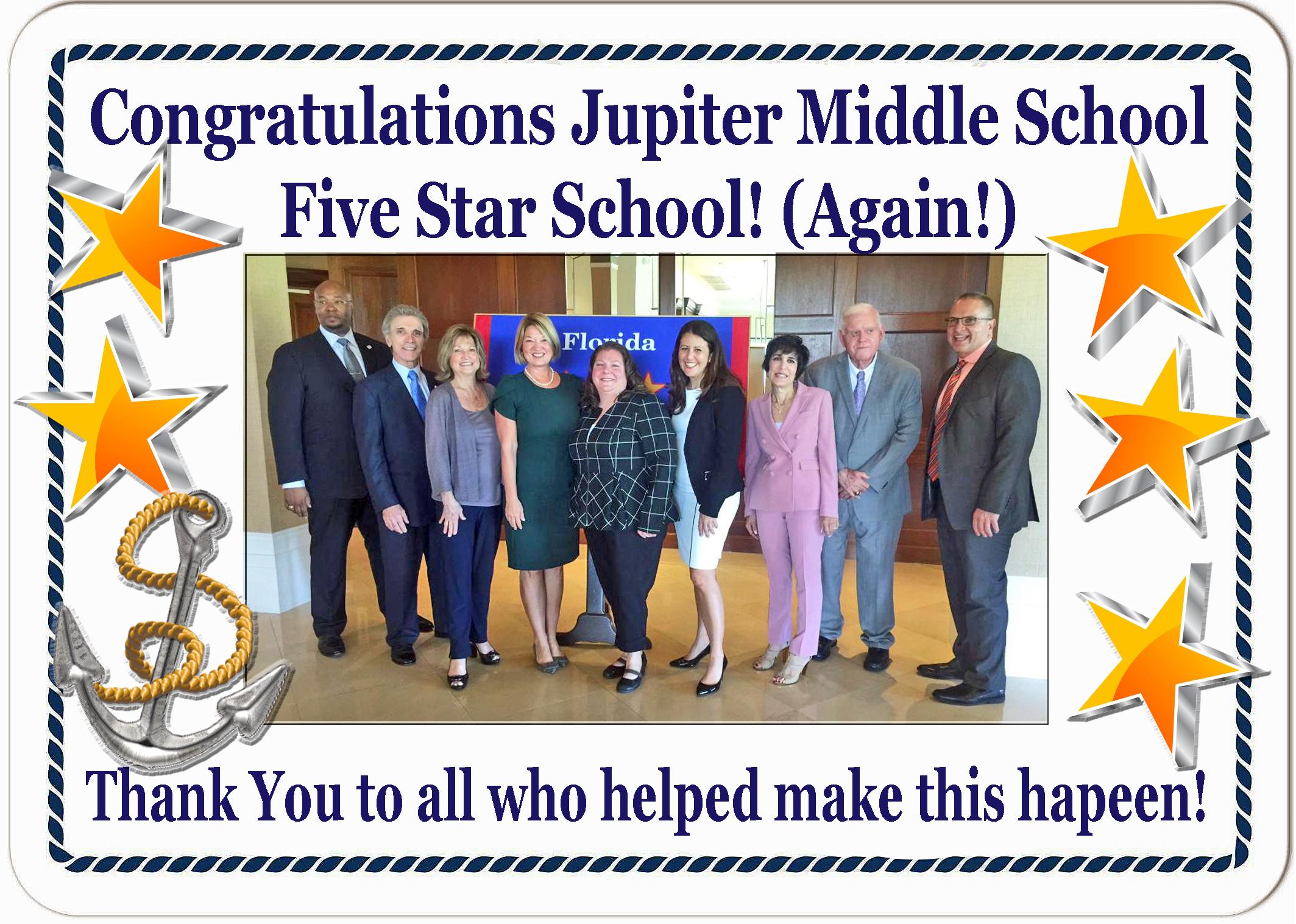 JMS Once Again 5 Star School 2019