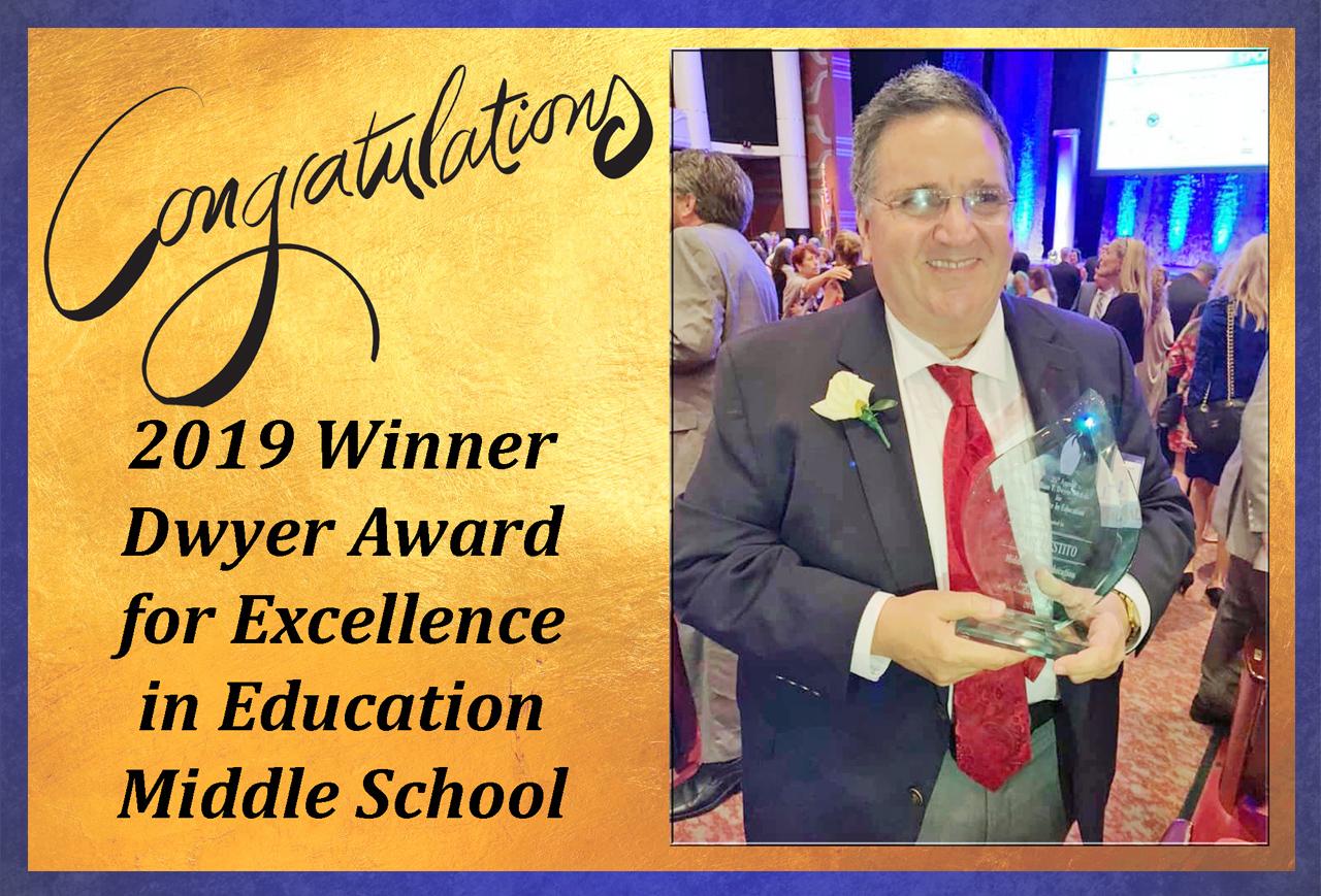 Mr. Destito wins Dwyer Award!