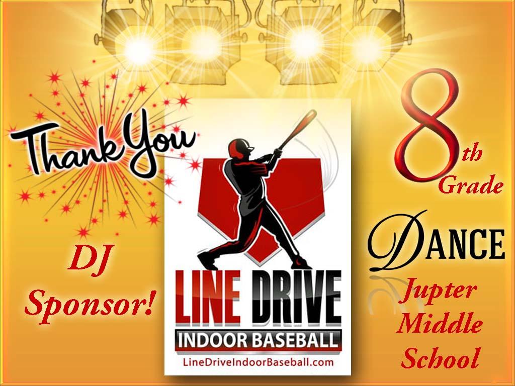 Line Drive Indoor Baseball Sponsor