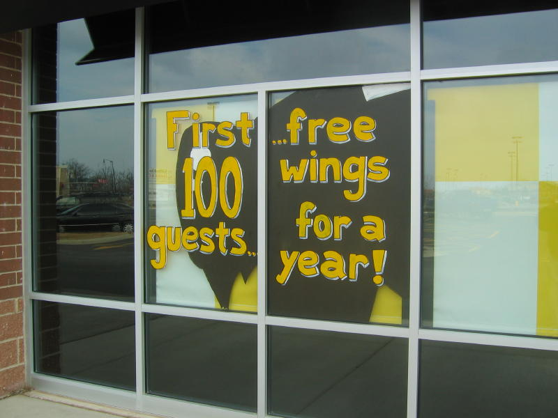 FREE WINGS, window