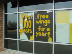 FREE WINGS, window