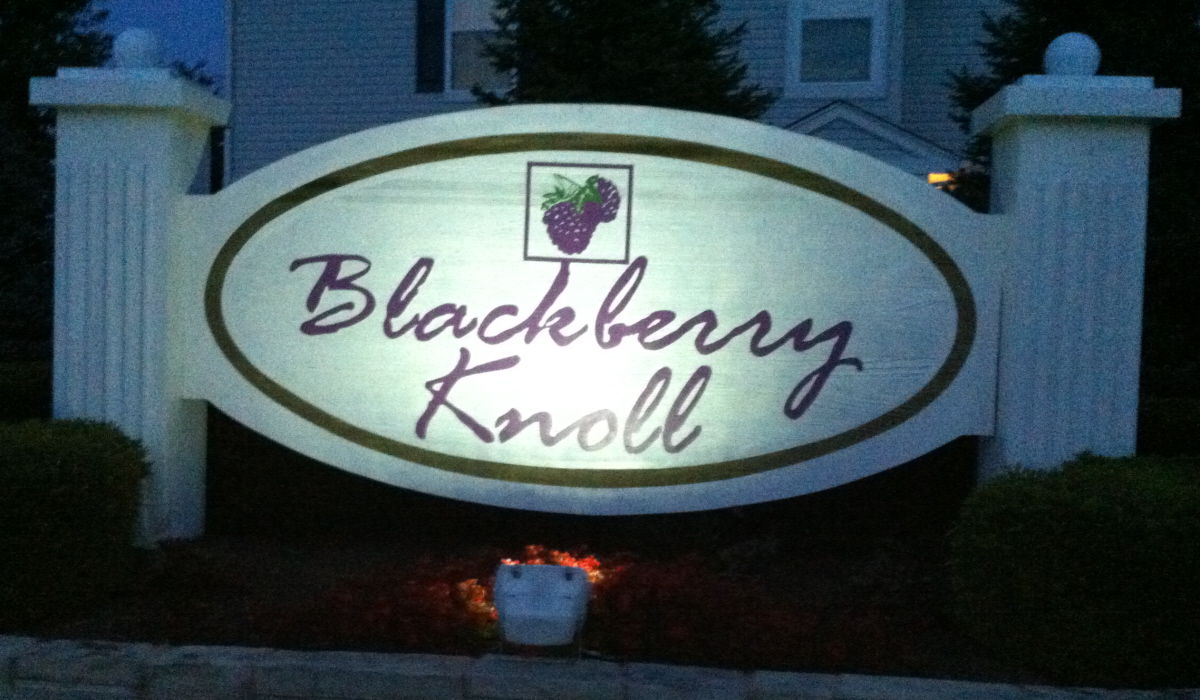1 - BLACKBERRY KNOLL SIGN