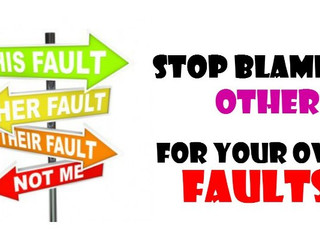Stop Blaming Other People For Your Mistakes