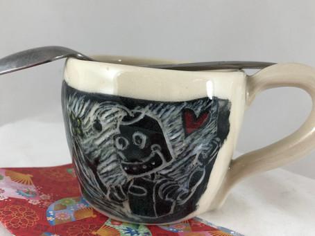 Steampunk Robot Mug with a Heart