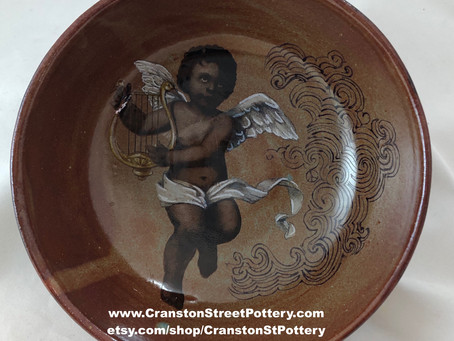Cupid with a Harp Bowl