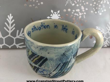 Every Situation Mug-Inspirational Saying Mug-Handmade Mug-Blue Mug-Holiday Gift Ideas-Pandemic Art