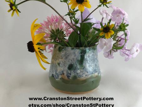 Blue and Green Tumbler-Paisley Tumbler-Blue and Green Tumbler-Handmade Pottery-Holiday Gift