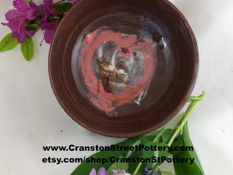 Pin Up Girl in a Heart Bowl