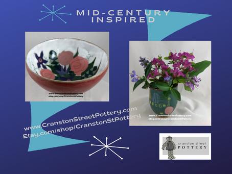 Mid-Century Inspired Pieces @ Etsy.com/shop/CranstonStPottery