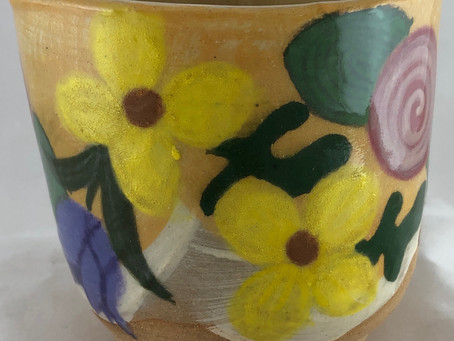 Yellow Flower Tumbler #1