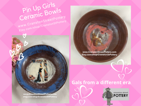 Ceramic Bowls, Pin Up Girls Ceramic Pieces