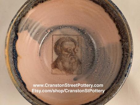 Ceramic Bowl, Goggly Eye Art, Ophthalmology Vintage, Optometry, Historic Optometrist