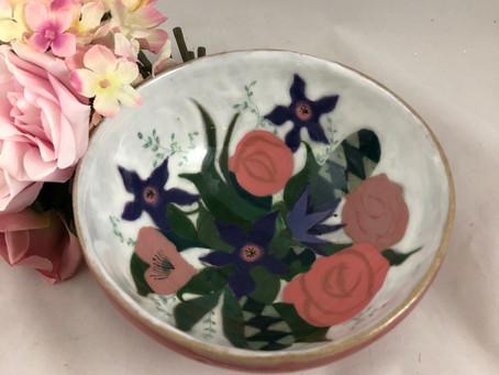 Mid-Century Inspired Flower Bowl