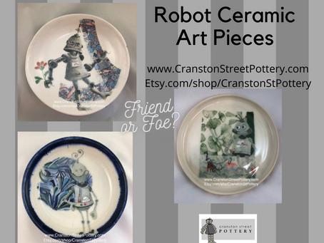 Robot Ceramic Art Pieces-Friend or Foe?