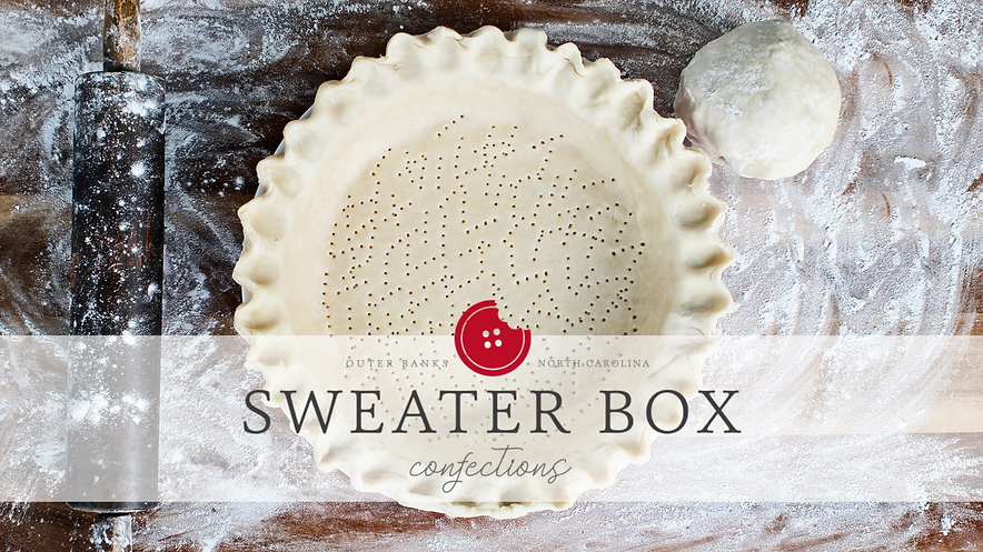 SWEATER BOX CONFECTIONS LOGO AND PHOTO