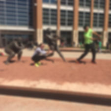 Players hunt for supplies in the Cincinnati Zombie Scavengers