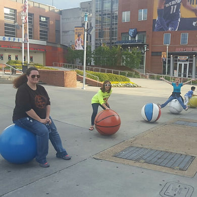 Players hunt for items in the Memphis scavenger hunt tour with Operation City Quest
