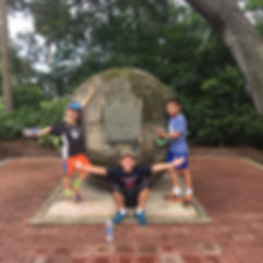 Players hunt for items in the St. Augustine scavenger hunt tour with 3Quest Challenge
