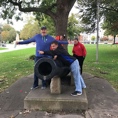 Players hunt for items in the Kalamazoo scavenger hunt tour with 3Quest Challenge