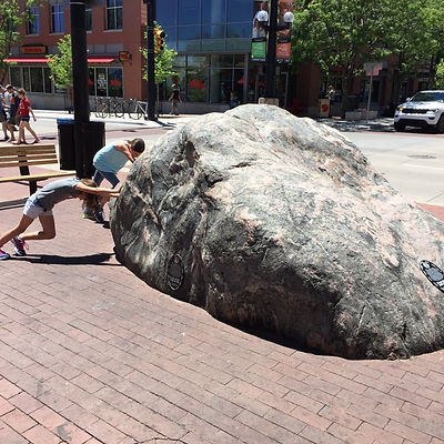 Players hunt for items in the Boulder scavenger hunt tour with 3Quest Challenge