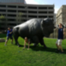 Players hunt for items in the Omaha scavenger hunt tour with Operation City Quest