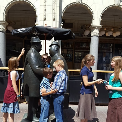 Players hunt for items in the Calgary scavenger hunt tour with Operation City Quest