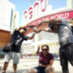 Players hunt for items in the Reno scavenger hunt tour with 3Quest Challenge