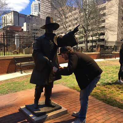 Players hunt for items in the Hartford scavenger hunt tour with Crazy Dash
