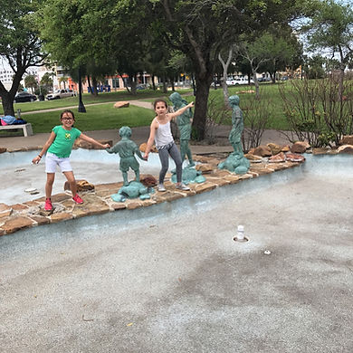 Players hunt for items in the Corpus Christi scavenger hunt tour with Operation City Quest