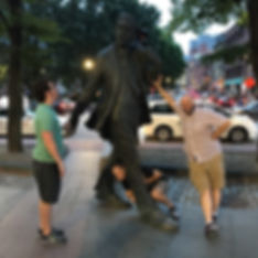 Players hunt for items in the Boston scavenger hunt tour with Operation City Quest