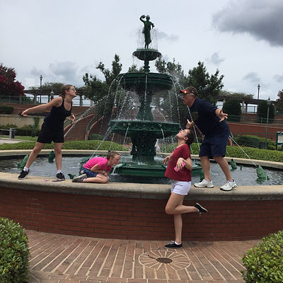 Players hunt for items in the Augusta scavenger hunt tour with 3Quest Challenge