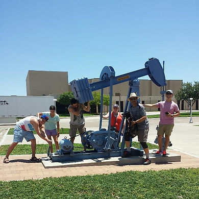 Players hunt for items in the Amarillo scavenger hunt tour with Operation City Quest