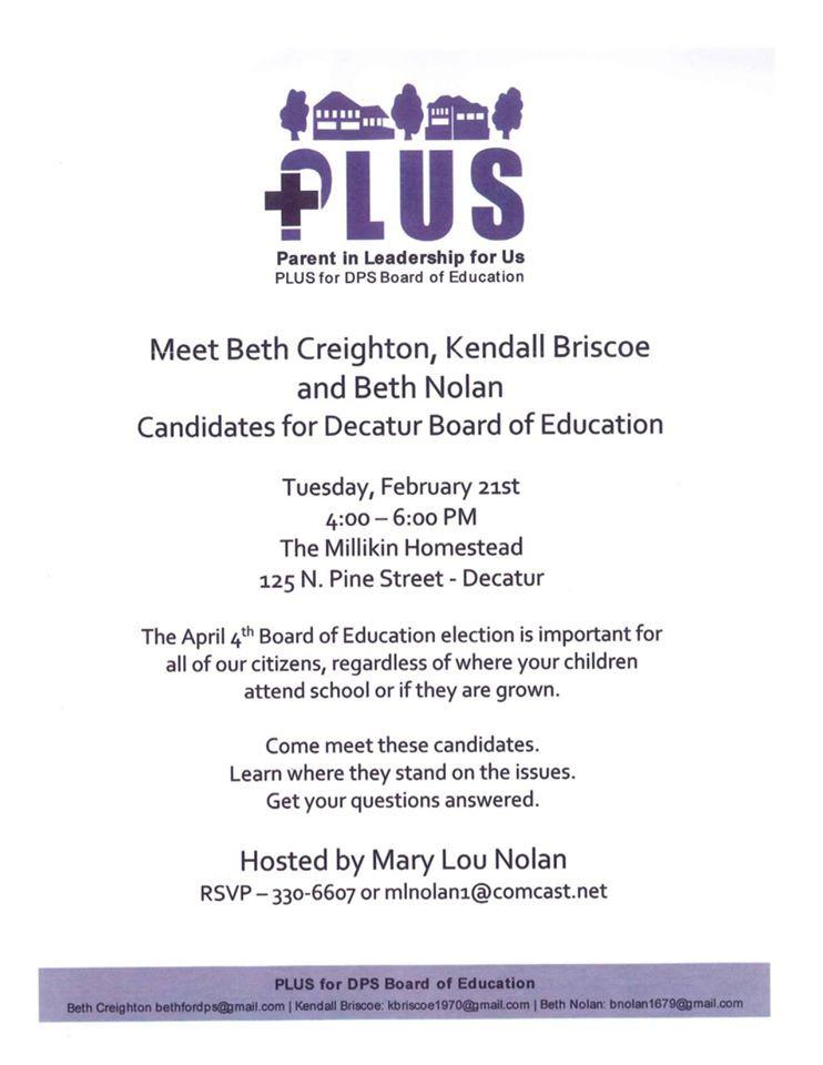Decatur School Board Candidate Meet & Greet