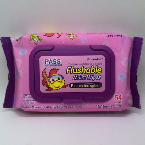 BABY WIPES FLUSHABLE PINK 54CT