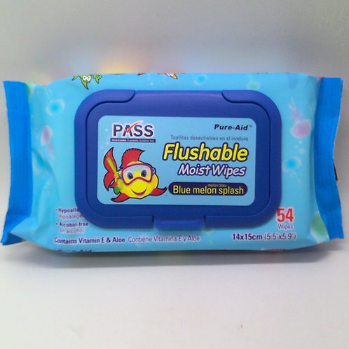 BABY WIPES FLUSHABLE ZCUL 54CT