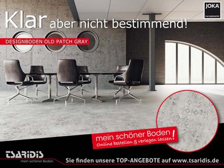 """WOW – MEIN SCHÖNER BODEN. Der Designboden des Monats """"Old Patch Gray""""."""