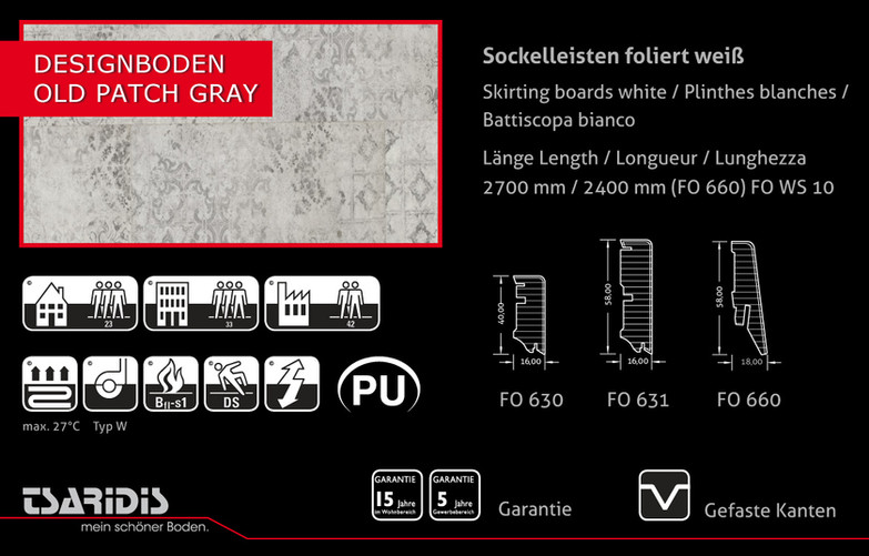 ANGEBOT DESIGN 5461 Old Patch Gray