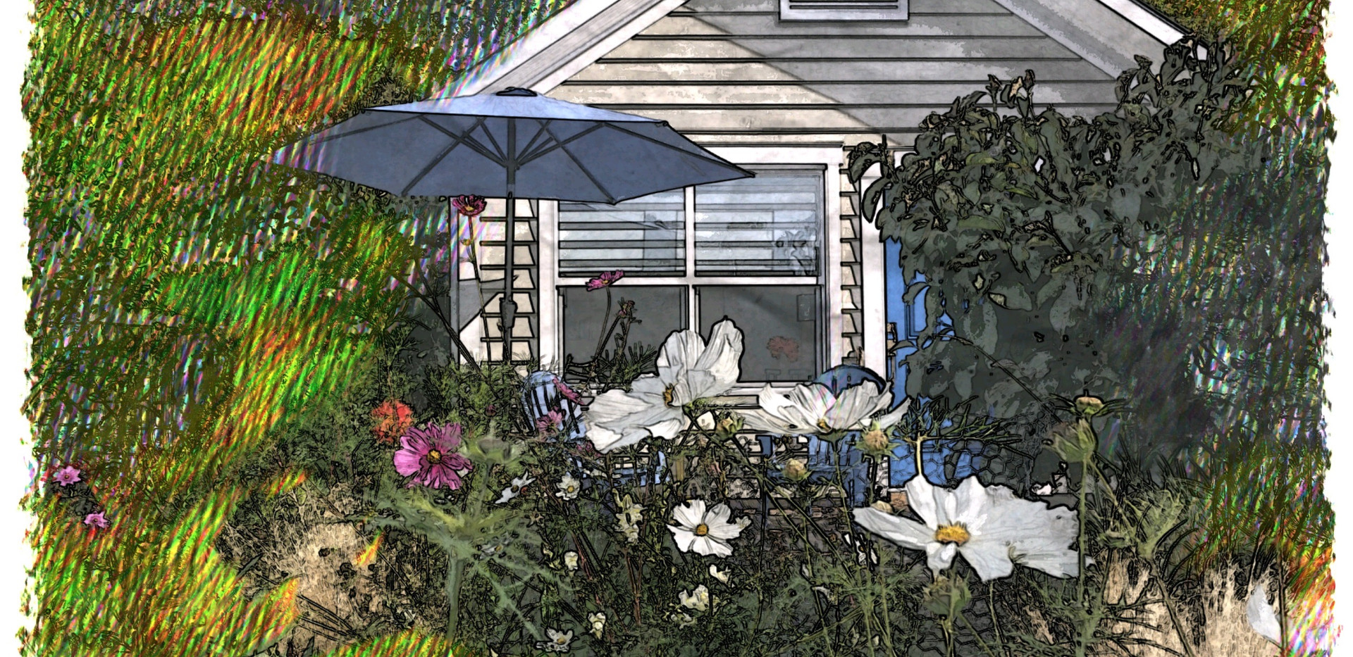 Artist rendition of The Small House at Belle Maison Auprès De La Mer B&B