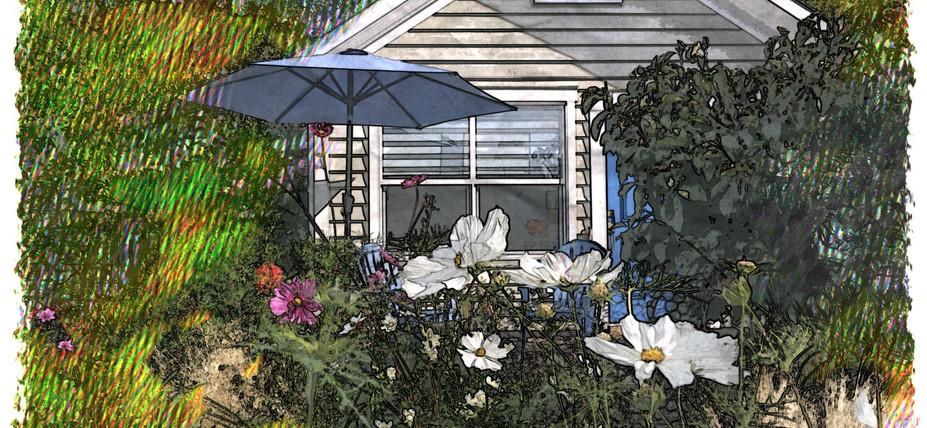 Artist rendition of The Small House at Belle Maison Auprès De La Mer B&B