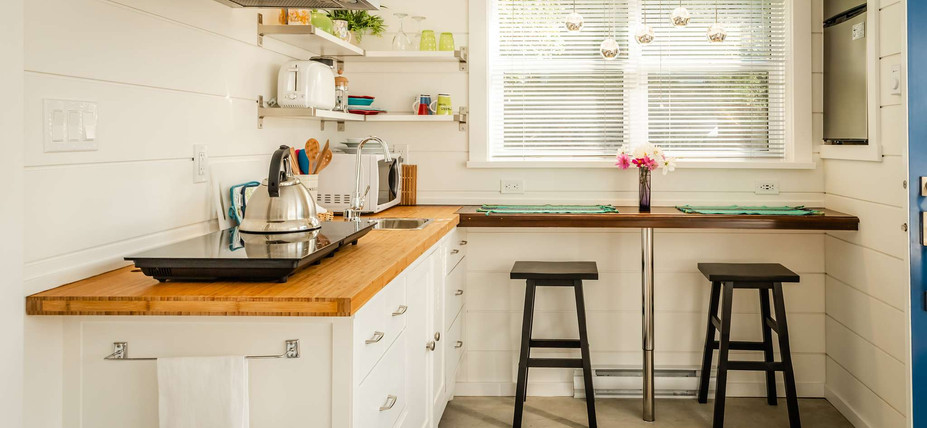The Small House Plan kitchen Photo credit: BJ Clayden