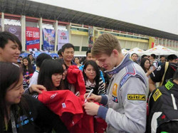 Signing Autographs, China