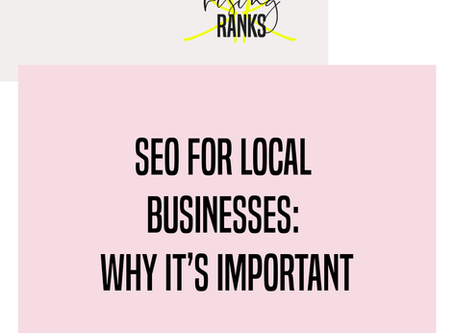 SEO For Local Businesses: Why It's Important