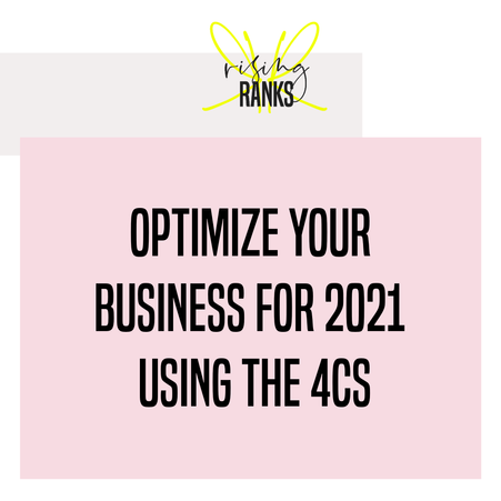Using the 4Cs to Optimize your Business In 2021