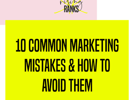 10 Common Problems in Marketing - and How to Avoid Them