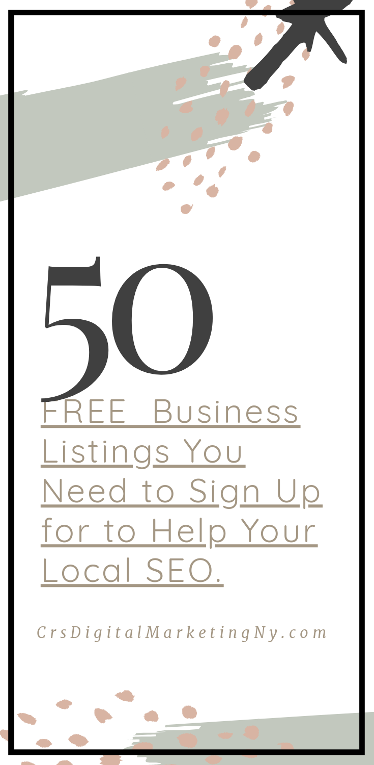 FREE Business Listings for Your Website SEO in 2019 (Links Included