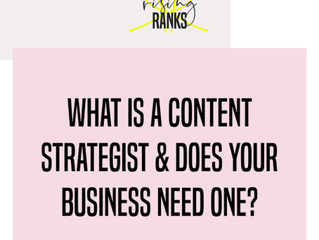 What is a Content Strategist and Does Your Business Need One?